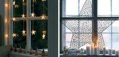 Cómo decorar las ventanas en Navidad - http://www.decoora.com/como-decorar-las-ventanas-en-navidad/