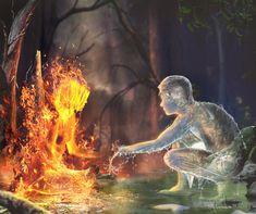Dark Fantasy Art, Fantasy Artwork, Fantasy World, Illustration Art Dessin, Art Amour, Flame Art, Fire And Ice, Cool Art, Concept Art