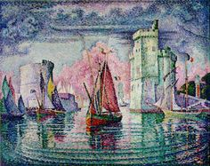 Port of La Rochelle - Paul Signac  Style: Pointillism  Private Collection