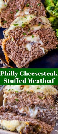 We LOVE this Philly Cheesesteak Meatloaf and even use leftovers on sandwiches. We LOVE this Philly Cheesesteak Meatloaf and even use leftovers on sandwiches. Hamburger Recipes, Ground Beef Recipes, Meat Recipes, Low Carb Recipes, Cooking Recipes, Healthy Recipes, Keto Recipe With Ground Beef, Stuffed Meatloaf Recipes, Cheese Stuffed Meatloaf