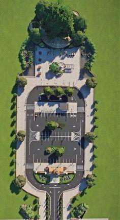 Zoo Architecture, Landscape Architecture Drawing, Landscape And Urbanism, Landscape Sketch, Landscape Plans, Futuristic Architecture, Concept Architecture, Urban Landscape, Landscape Design