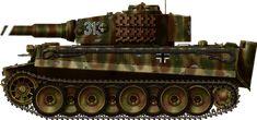 Panzerkampfwagen VI Tiger, Tiger I Ausf. E, early version, SS Pz.Abt. 101, Normandy, summer 1944.
