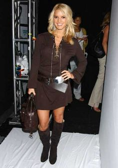 Jessica Simpson Olympus Fashion Week Michael Kors Spring 2005 At Bryant Park In New York City September 2004