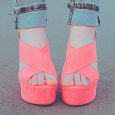 shoes high heels cute coral summer adorable wedges pink. Dolce Vita