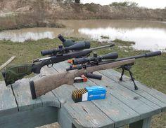 Friday Guns:  Browning ABolt 308 and Remington 700 223 with Crux Archangel and Ark Suppressors   #thepewpewlife #blackgunsmatter #evilblackrifle #guns #weapon #weapons #weaponsdaily #rifles #suppressor #makeamericagreatagain #weaponsfanatics #texasguntrus