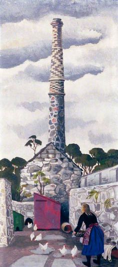Portrait of a Chimney - Mary Adshead Landscape Art, Landscape Paintings, Country Art, Art Uk, Your Paintings, Folk Art, Mary, Illustrations, Explore