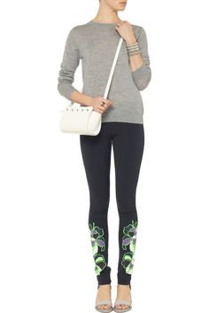 LES CHIFFONIERS Blue Printed Stretch Cotton blend Leggings Size XXS SHOP: http://stores.ebay.co.uk/Flawless-Fashion-Lounge?_rdc=1