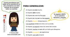 A1 - ¿Cómo generalizar cuando hablamos de costumbres? - Actividad completa en EL Blog de Sonora ELE.