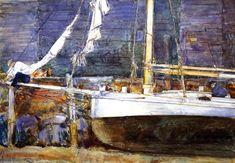 , aquarelle de Frederick Childe Hassam (1859-1935, United States)