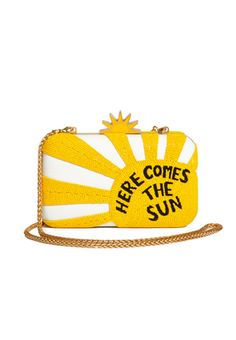 AO X THE BEATLES HERE COMES SUN CLUTCH by Alice + Olivia