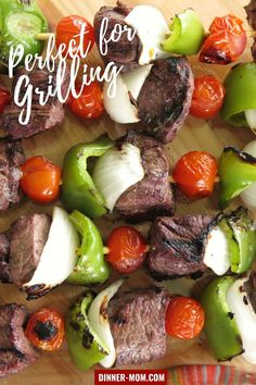 Steak Shish Kabobs soaked in Red Wine Marinade will become your favorite grilling recipe! Full of flavor and low in carbs too! #steakshishkabobs