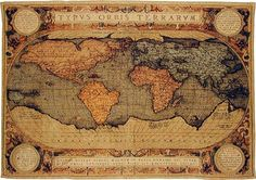Inspiration for Sheilyn's bedroom. Antique maps and globes.