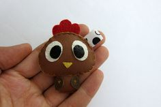Cute Chicken Leather Keychain  Abigail by araleling on Etsy, $12.00