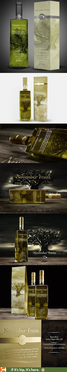 Elixir Flavours' November Fruits Rain Born Extra Virgin Olive Oils. Package design and branding by The Brandhouse of Greece.