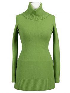 Damen Longpullover mit Kaschmir, grün von Diana bei www.meinkleidchen.de