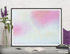 Bring lots of love and boho chic flair to your art wall! Pink abstract decor - Printable art by FraBor Art.