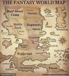 Fantasy World Map