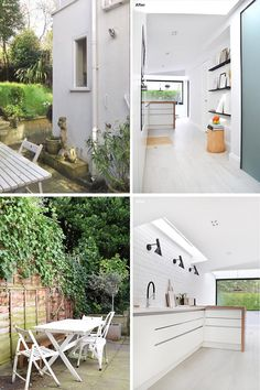 Before  After - House Extension - The patio and garden were quite long and its shape inspired the designers for the layout of the kitchen and dining area. #HouseExtension #KitchenDesign