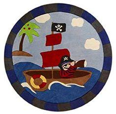 Kinder wanduhr fisch tolle wand dekoration f r ein - Piratenzimmer wandgestaltung ...