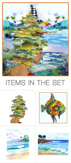 """Collage on Paper"" by lubime ❤ liked on Polyvore featuring art"