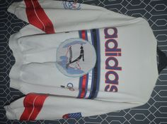 Vintage Adidas Olympic L Lake Placid Sweatshirt 1980 Winter Games hiphop Big Logo