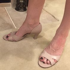 Women's Dress Heels Light pink or light mauve dress heels. Worn a couple of times. George Shoes Heels