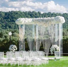 Beautiful outdoors ceremony decoration