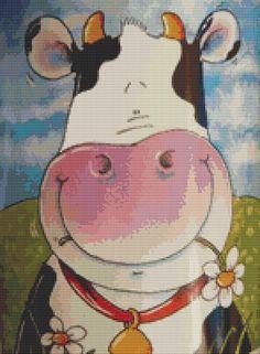 Cow Cross Stitch Pattern by Mydreamsofavalon on Etsy, $6.00