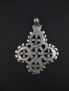 Ethiopian Coptic Cross Medium - African Pendant - Silver Cross Pendant - Authentic Ethiopian Pendant - Made in Ethiopia (PND-CSM-554)