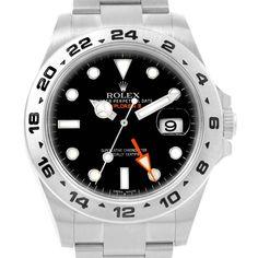 02c855bfa 16492 Rolex Explorer II Black Dial Oyster Bracelet Steel Mens Watch 216570  SwissWatchExpo Pre Owned Rolex