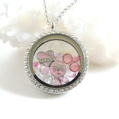 Floating Charm Locket Necklace/  Friends Charm Necklace by PNLJewelryDesigns