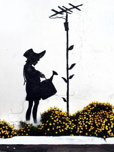Banksy - Girl with Flower