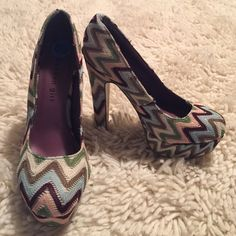 NWOT Madden Girl Pumps New without tags never been worn from madden girl! Missoni print inspired. Madden girl but using Steve Madden as exposure Steve Madden Shoes Heels