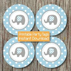 free printable elephant baby shower decorations - Buscar con Google