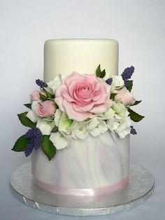 Floral compile cake by Martina Matyášová