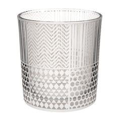 Photophore à motifs Ethnique en verre H 8 cm