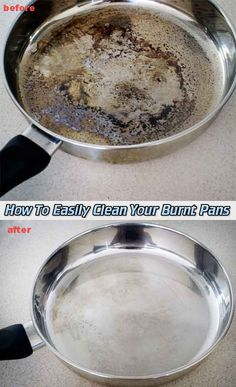 How To Easily Clean Your Burnt Pans - LivingGreenAndFrugally.com