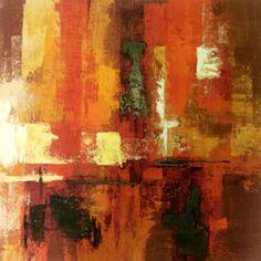 Orange Abstract Canvas    #bright #dunelm