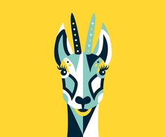 La Chamoise #Beer #animal #illustration