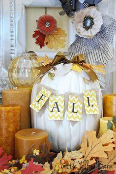 Cute Fall pumpkin idea