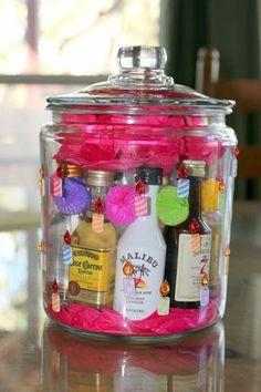 Mini liquor bottle gift... perfect bday present for me!!!!! | 21st Birthday! | Pinterest | Mini Liquor Bottles, Liquor Bottles and Liquor
