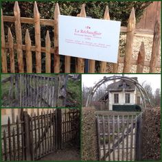 Rustic gates of Marie Antoinette's private hamlet.  Domaine de Marie Antoinette  Photos by Bruce Baileyr