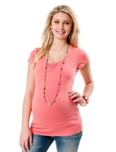 Motherhood Maternity: Short Sleeve Scoop Neck Maternity T Shirt