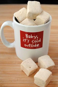 Gingerbread Marshmallows & Christmas Cocoa Gingerbread Marshmallow Recipe ~ They are so light and fluffy and perfectly spiced. They aren't too overwhelming as to take over your drink, but they give an extra punch that is incredible Holiday Treats, Christmas Treats, Christmas Baking, Holiday Recipes, Holiday Baking, Recipes With Marshmallows, Homemade Marshmallows, Marshmallow Recipes, Merry Christmas