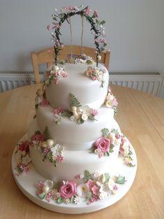 Wedding cake by Just-A-Cake, Folkestone.