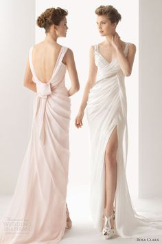 rosa clara color wedding dresses 2014 soft utrer sleeveless gown straps draped. Un estilo así sino para damas de honor? De otro color obvio @anabelita @Tefi Bellini