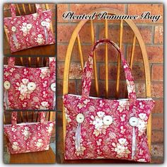 Sew Well Maide: My New Bag Pattern - The Pleated Romance Bag