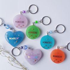 Excited to share the latest addition to my shop: Monbebe Resin Keychains Diy Resin Charms, Diy Resin Art, Uv Resin, Resin Crafts, Jewelry Kpop, Cute Jewelry, Diy Keychain, Keychain Ideas, Keychains