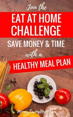 Want to make menu planning easier, plus save money and time? Join the Eat at Home Challenge to get pre-made healthy meal plans and grocery shopping lists! It's SO easy! Plus, restaurants are closing more and more, so let's make great food at home! Family Meal Planning, Budget Meal Planning, Home Recipes, Real Food Recipes, Healthy Recipes, Diet Recipes, Money Saving Mom, Inexpensive Meals, Frugal Meals