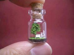 Will You Marry Me Tiny World in a Bottle Scottish Cow, Be Light, Little Presents, Paper Tree, Tiny World, Kinds Of Dogs, Mason Jar Wine Glass, Green Trees, Red Tree